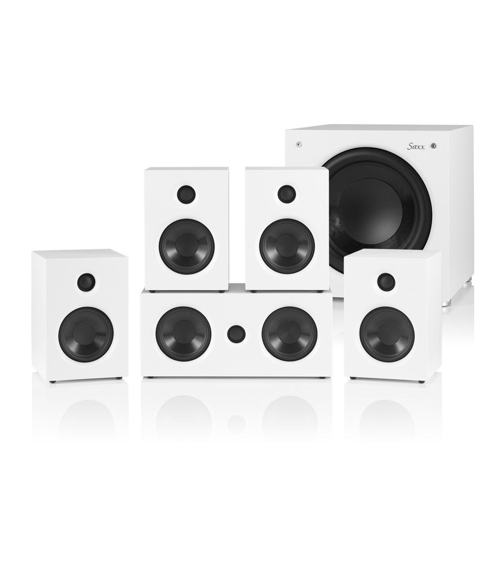 Saxx Audio curvedSOUND CR 5.1 + DS Cordless 2.4 - weiß, schwarz