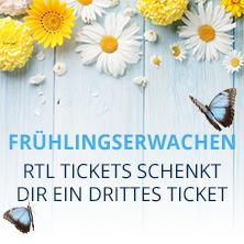 3. Konzertticket von RTL Tickets geschenkt