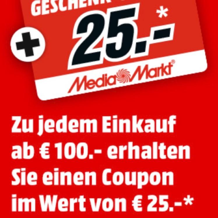 [Media Markt Eschweiler / 04.05. / MM Club] Zu jedem Einkauf ab 100€ einen 25€ Coupon gratis