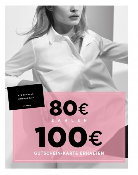 Eterna-Gutscheinkarte 80€ zahlen 100€ erhalten