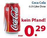 Coca Cola Dosen für 29 ct ohne Dosenpfand nahe deutsche Grenze