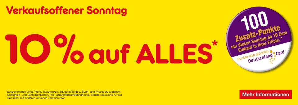 [Lokal Netto Marken-Discount] 10% auf Alles* (auch online) + 100 Zusatz-punkte ab 10€ Einkauf am Verkaufsoffener Sonntag (30.04) in Bückeburg