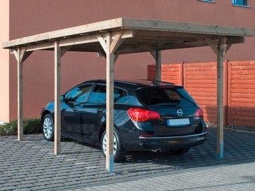 [ Obi ]Einzel-Holzcarport 300 cm x 500 cm inkl. grauem PVC-Kunststoffdach ( 184,99€ mit 5€ Coupon bei Neukunden Newsletter Anmeldung)