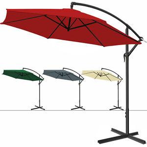 Alu Sonnenschirm 3,0m Ampelschirm + Handkurbel bei EBAY 40,46€