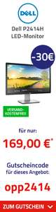 "Dell P2414H LED-Monitor (24"") 61 cm LED-Monitor schwarz/silber DVI, 8ms Reaktionszeit"