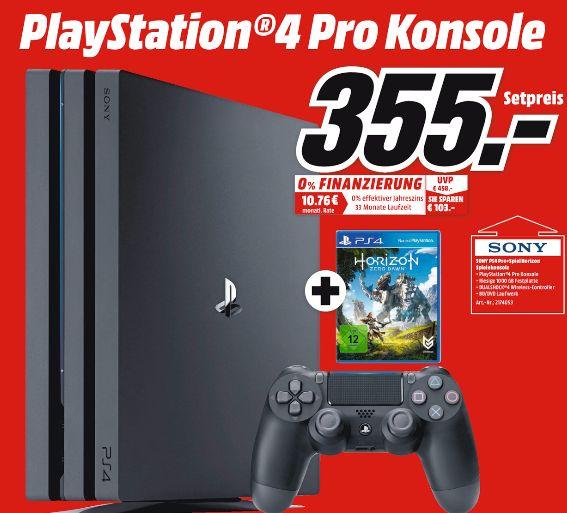 [Lokal Mediamarkt Meerane ab 04.05] PlayStation 4 (PS4) Pro 1TB + Horizon Zero Dawn für 355,-€