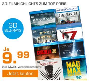 [Saturn] Mehrere 3D Blu-rays für je 9,99€