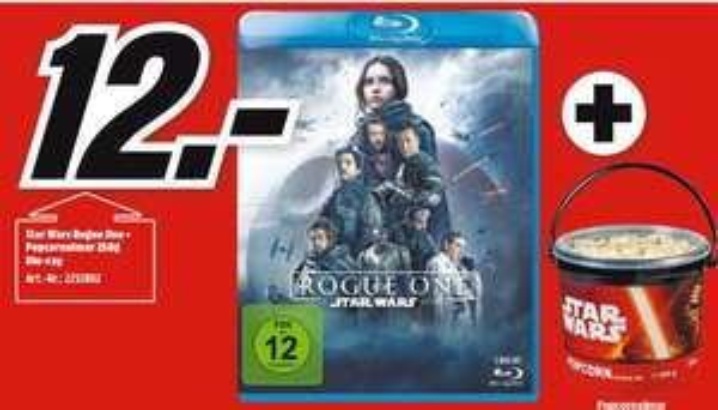[Lokal Mediamarkt Meerane ab 04.05] Rogue One - A Star Wars Story - (Blu-ray) inc.Popcorneimer für 12,-€