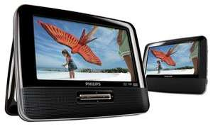 [Lokal Hamburg] Philips PD7022/12 Tragbarer DVD-Player (inkl. zwei Bildschirmen, integr. Stereo-Lautsprecher, Dolby Digital) schwarz für 37,80€ [Clas Ohlson]