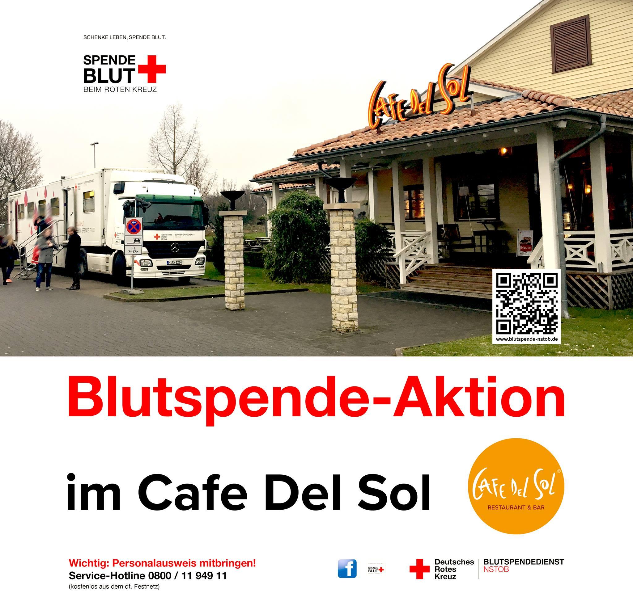 [Hildesheim, Göttingen, Bremen] 10 Euro-Gutschein im Cafe del Sol für Blutspende