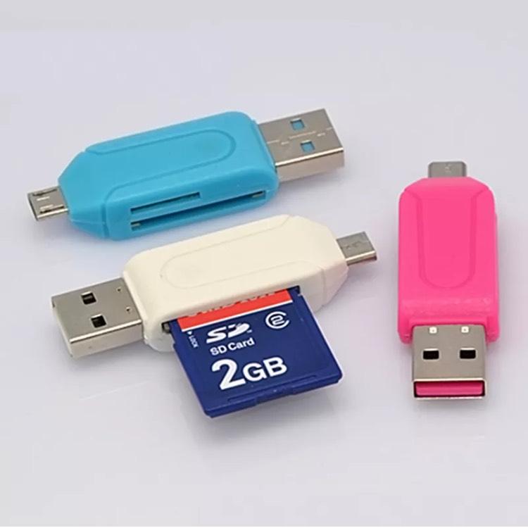 SD-Kartenleser mit USB und Micro-USB Anschluss