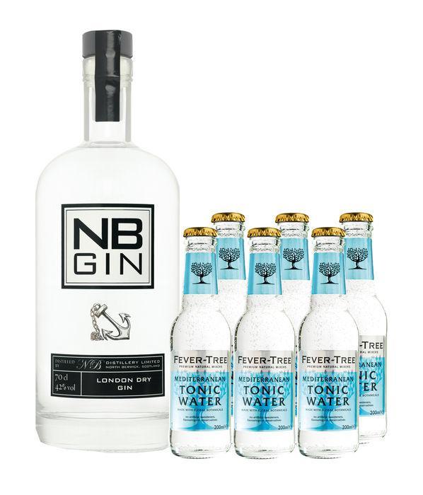 [Gourmondo] NB Gin aus Schottland 0,7l + 6x Fever Tree Mediterranean Tonic 0,2l - 27% unter Idealo
