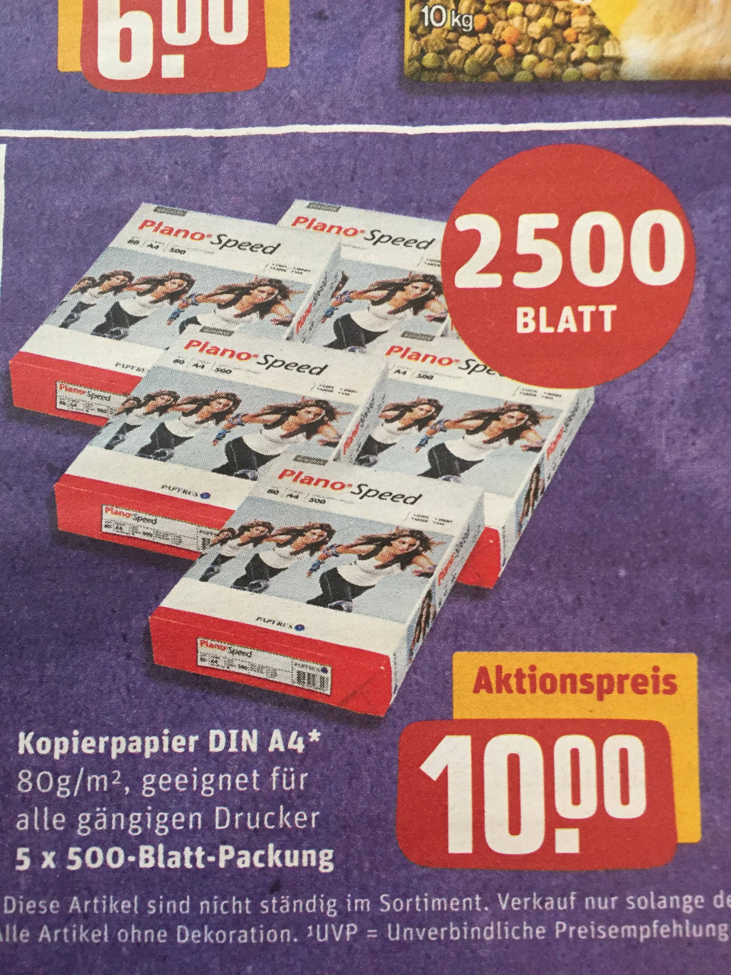 2500 Blatt Kopierpapier für 10€ [Rewe Center]