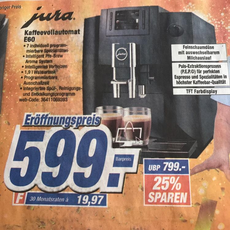 Jura E60 für 599€ online bestellbar