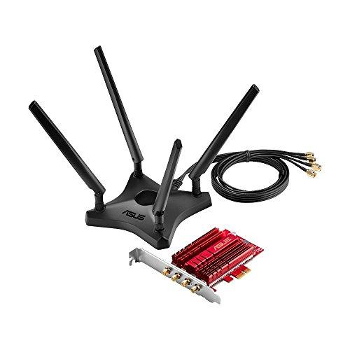 W-lan Asus PCE-AC88 Wi-Fi PCIe-Karte 802.11ac, PCIe 1x, 4x externe Antennen mit Standfuß 47,03 inkl. Versand (PVG: 96,65)