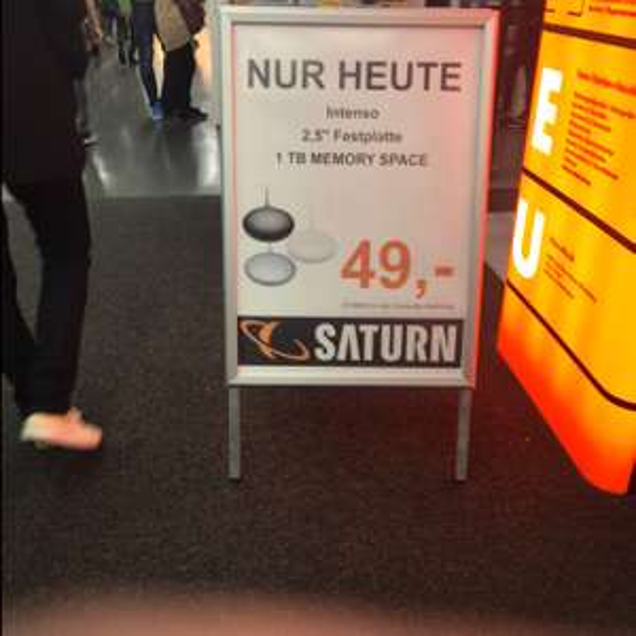 Intenso Memory Space 1TB (lokal) Saturn Neuhauser Straße München NUR HEUTE