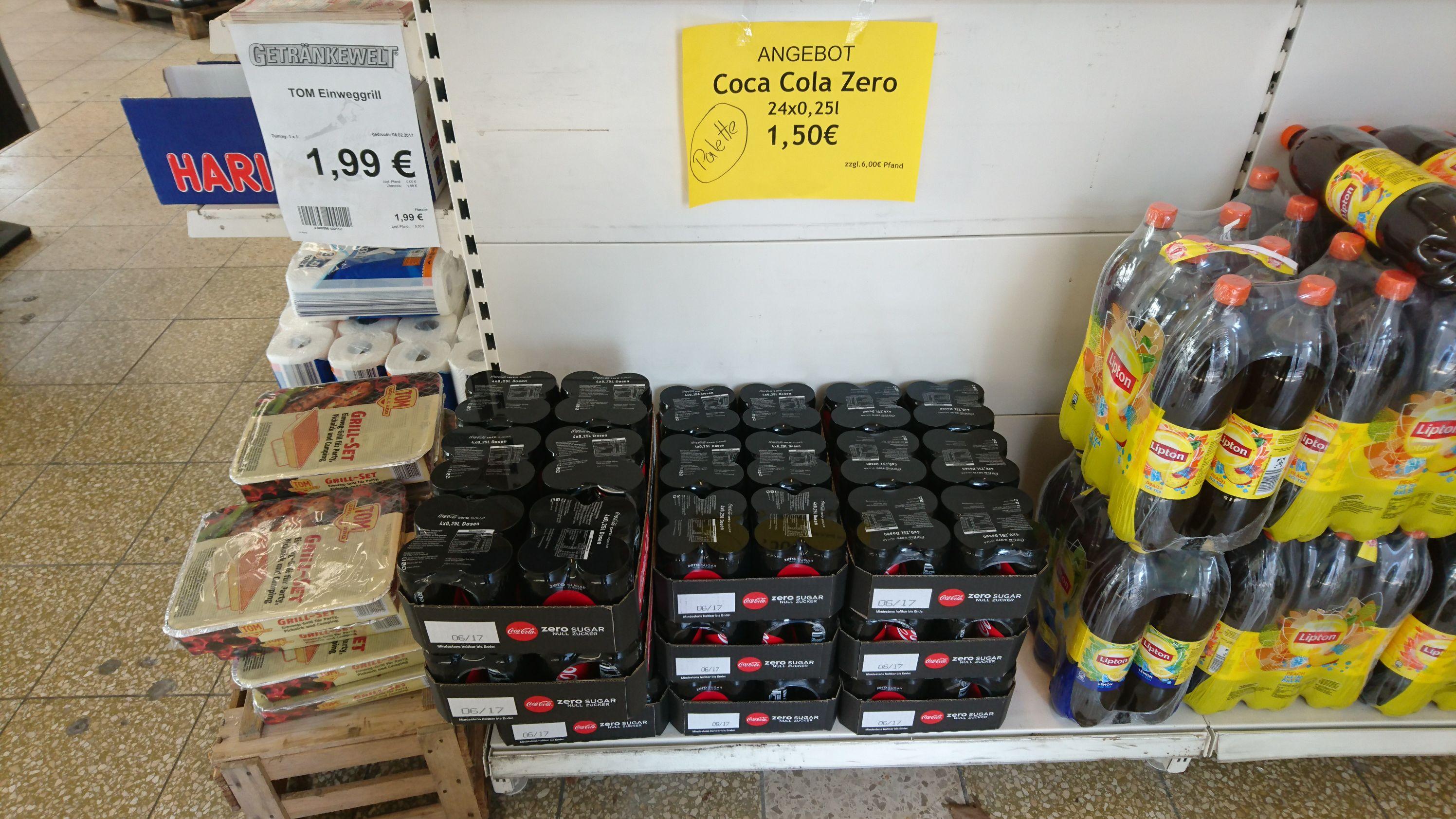 [Lokal Getränkewelt Essen Holsterhausen] Coca Cola Zero 24x0.25l (inkl. Pfand)