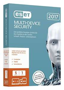 ESET Multi-Device Security 2017 Edition [5 Geräte - 1 Jahr - Vollversion, Software-Download] -- 50% günstiger statt 32,99€