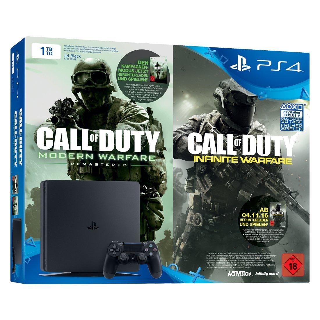 PS4 Slim 1TB + CoD: Infinite Warfare Legacy Edition (Infinite Warfare + Modern Warfare: Remastered) für 234€ [Amazon]