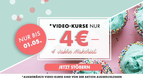 [makerist] ausgewählte Videokurse für nur 4 €
