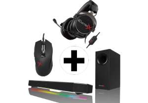 CREATIVE Sound BlasterX Gamingset (Headset+Audio-System+Maus) für 289€ [Mediamarkt.at]