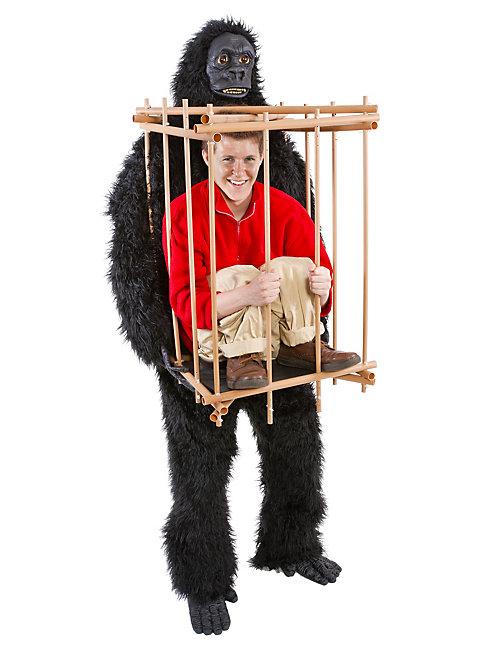 Lasst euch vom Affen einsperren! Affenkostüm mal anders. Z.B. für den bananigen Alltagseinkauf ;)