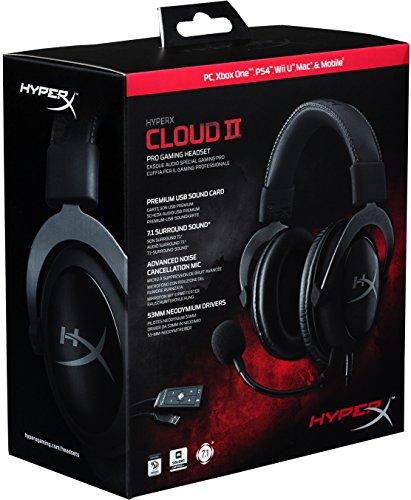 HyperX Cloud II Gaming Kopfhörer (für PC/PS4/Mac) gun metal bei Amazon.de für 67,51 € mit Versand