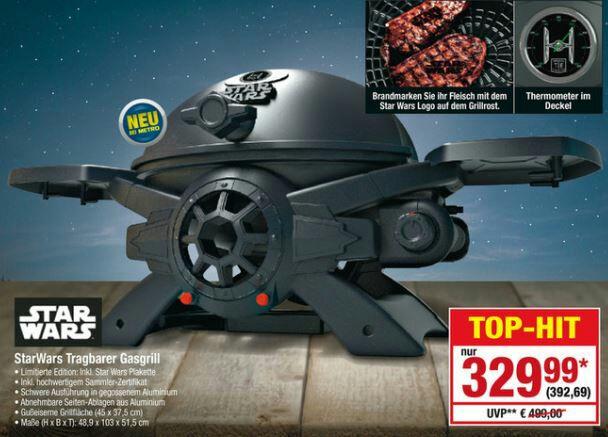 [Metro] Broil Chef Star Wars TIE Fighter Gas Grill ab 11. Mai 2017 auch in D erhältlich (sonst 399 US$ + Versand + Zoll + 19% EUSt.)
