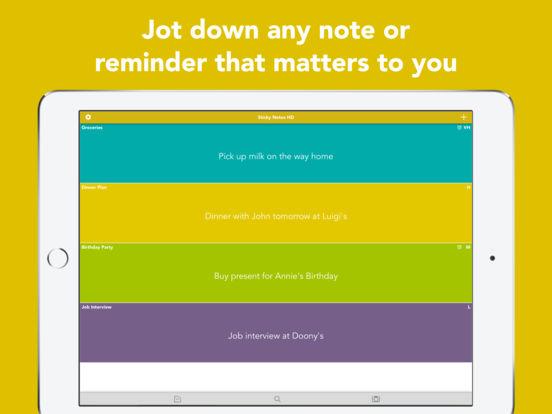 Sticky Notes HD iOS gratis anstatt 0.99 Euro