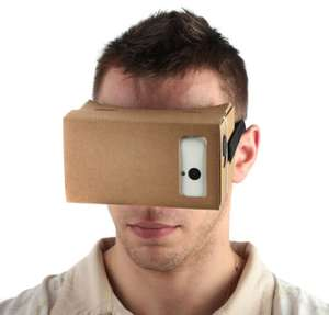 Cardboard 3D Virtual Reality Viewing Glasses mit Brillenband (DIY)