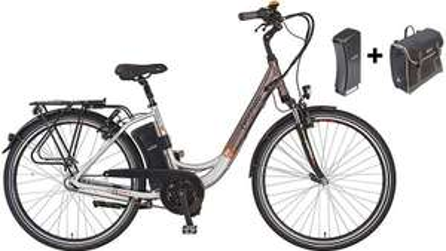 Prophete E-Bike City inkl. 2. Akku u. Packtasche, 28 Zoll, 7 Gang Shimano Nexus, »Navigator Pro« Gesamtersparnis 564 € zu Idealopreis