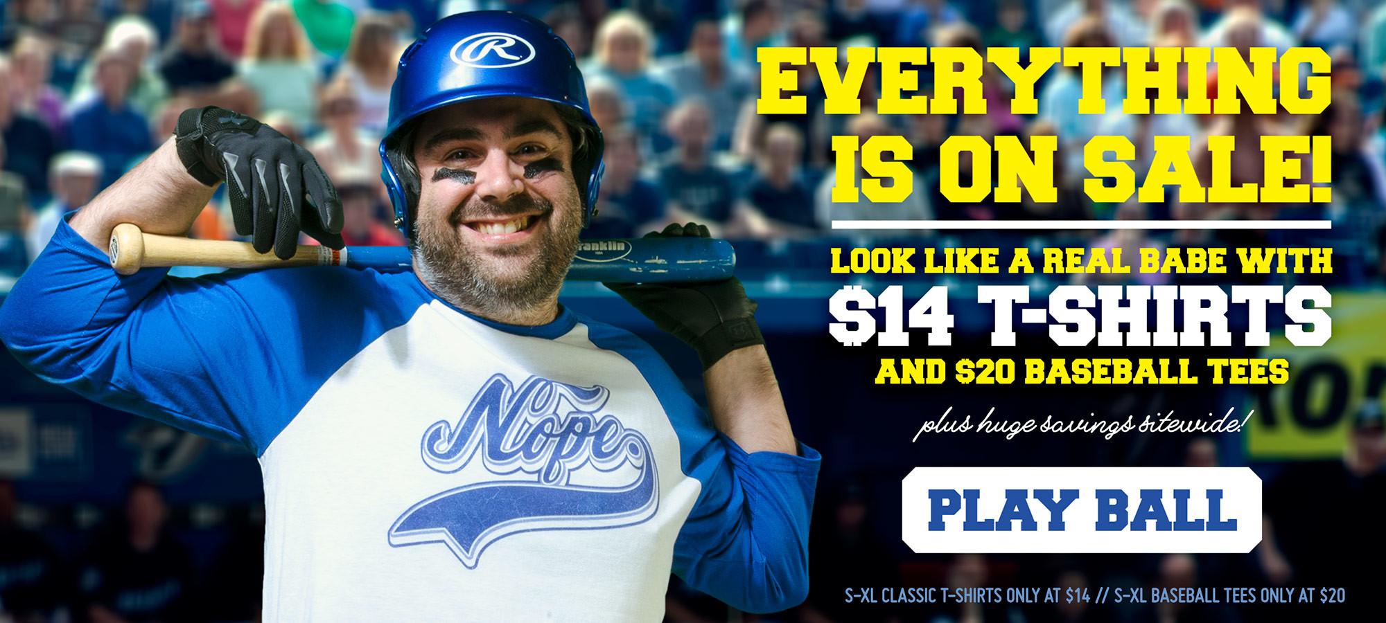 NUR NOCH 6 STUNDEN!!! TEEPUBLIC-Sale: Alle T-Shirts für 14$ und alle Baseball-Tees für 20$