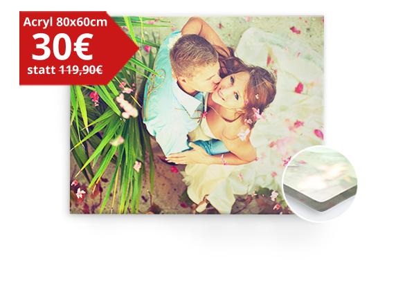 Acrylglas Fotodruck 80cm x 60cm für 30€ + 6,90€ Vsk (auch Panorama-Größen im Angebot) [MeinFoto]