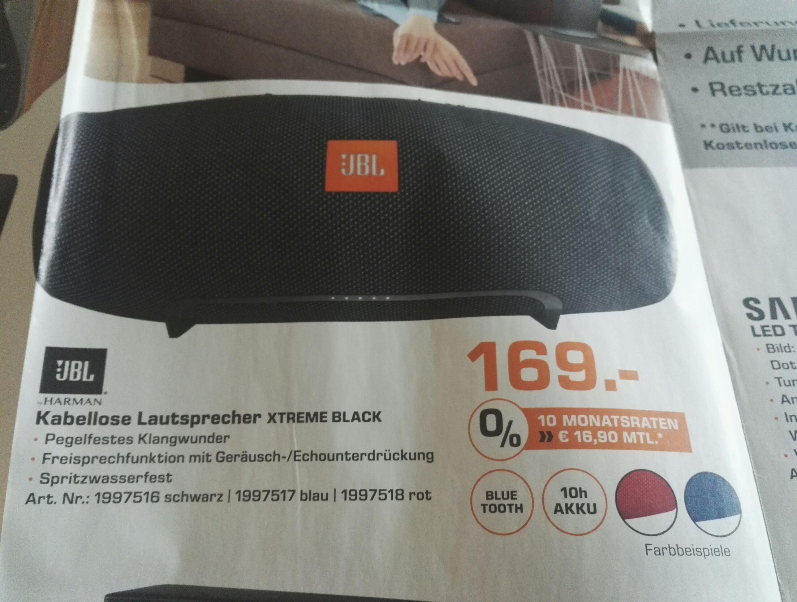 (lokal Augsburg Saturn) Jbl xtreme 169€ - idealo 209€