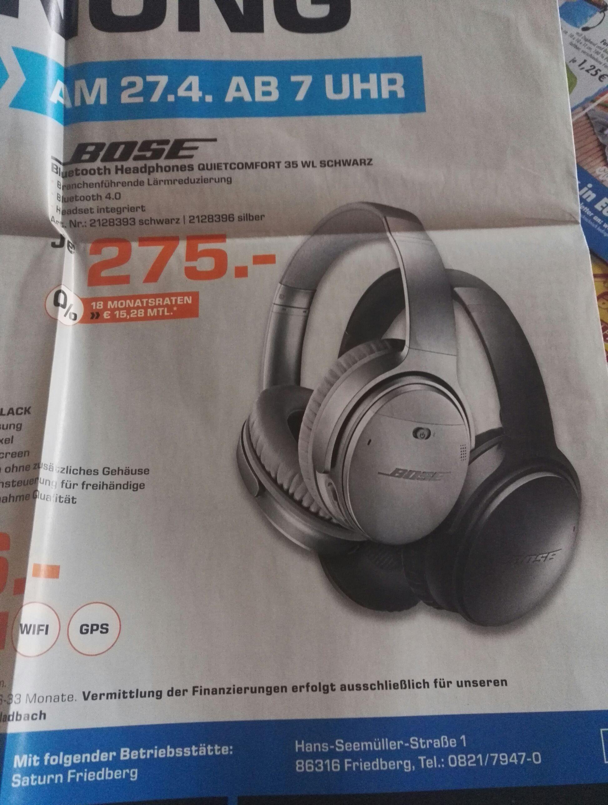 (lokal Augsburg Saturn) bose quietcomfort 35 275€-idealo 295€