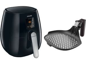 PHILIPS Heißluftfritteuse Airfryer VivaCollection + Grillpfanne HD9236/20, schwarz für 160€ [saturn.at]