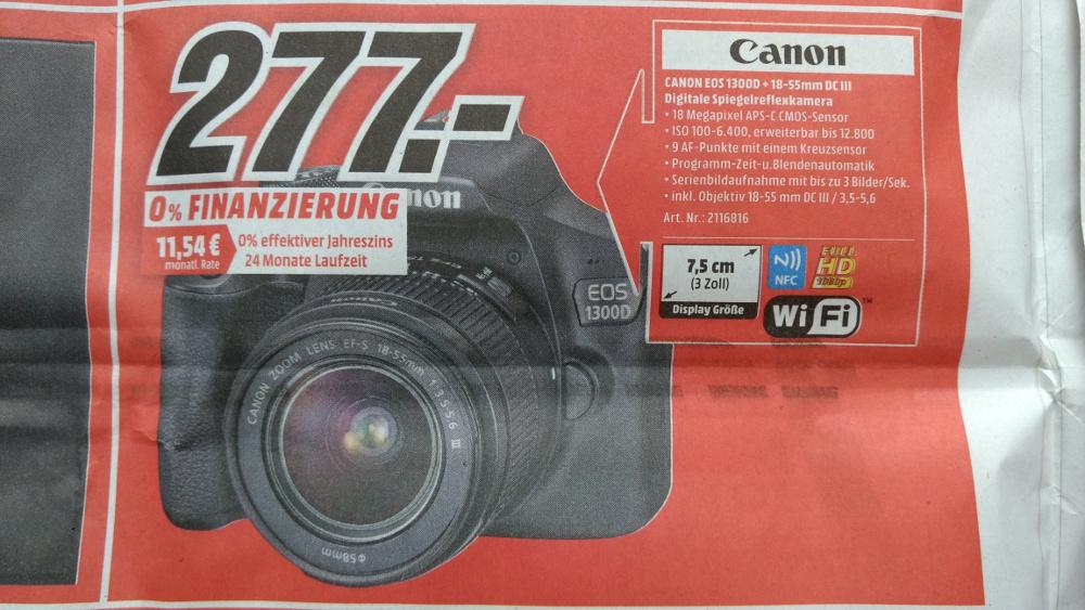 [Regional, Mittel- und Oberfranken] Canon EOS 1300D + Objektiv 18-55 mm DC III