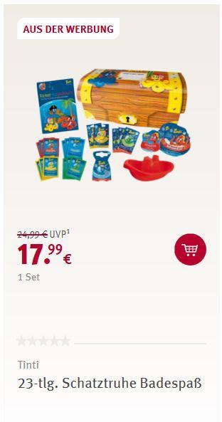 Rossmann-Werbung Tinti Schatztruhe 23-tlg. 17,99 €