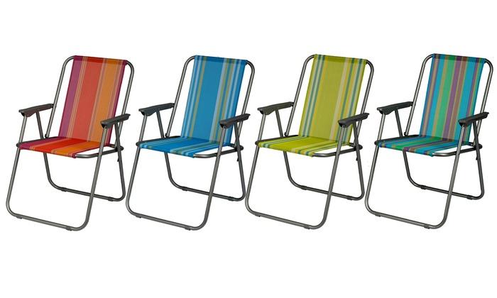 6er-Set Klappstühle mit Bezug für den Garten in der Farbe nach Wahl @ Groupon