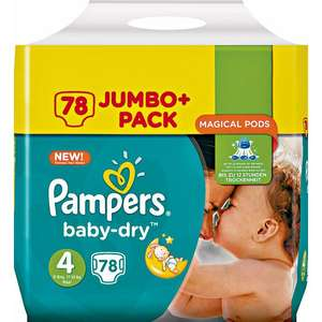 [Rossmann] Pampers Baby-Dry Jumbo Pack, Gr. 4 für 15,9Cent/Stück