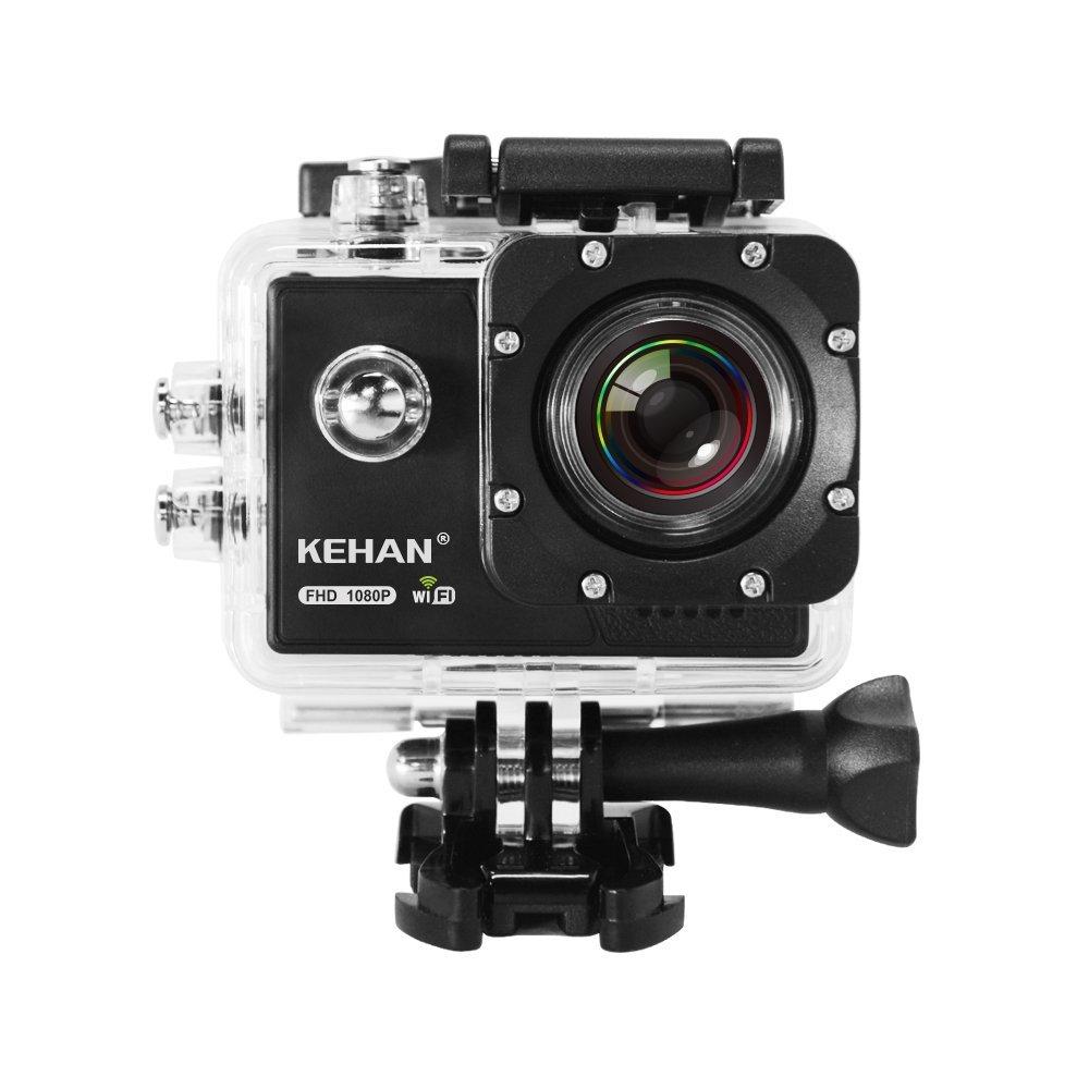 Kehan C70 1080P 60fps Action-Kamera, Wifi, Wasserdicht 16MP mit Bildschirm von Amazon.it inkl. Versand