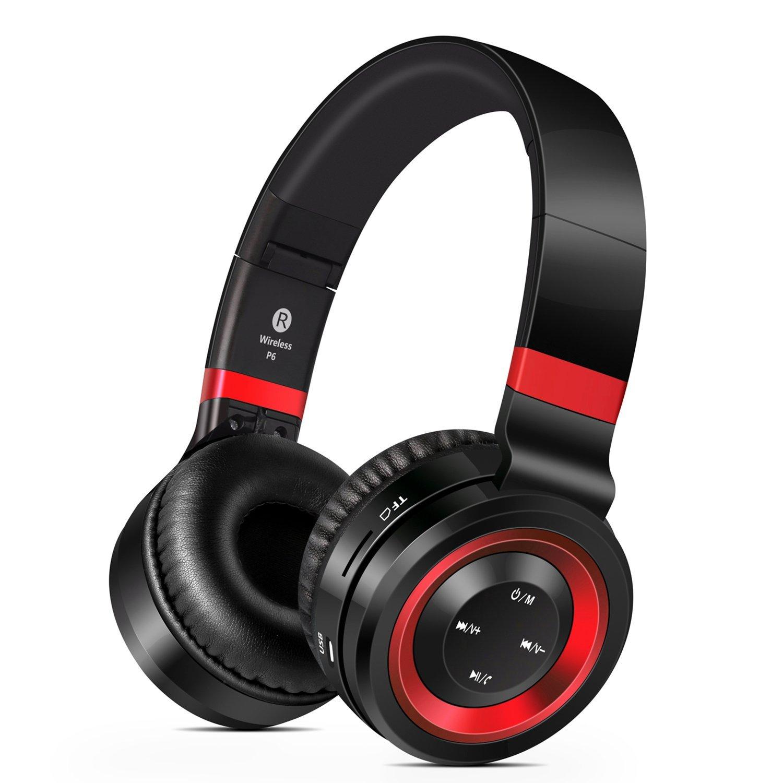 Bluetooth 4.0 On-Ear Kopfhörer mit Freisprechfunktion, FM-Tuner und Micro-SD Kartenslot
