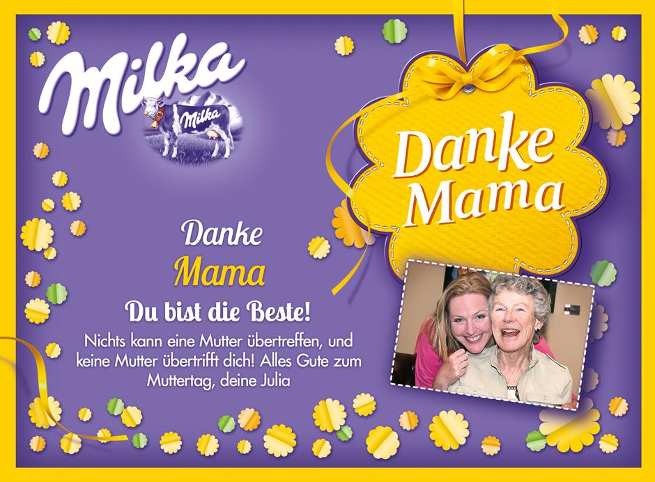 Personalisierte Milka Pralinen zum Muttertag