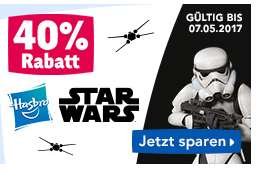 Toysrus 40% auf alle Hasbro Star Wars Artikel z. b. Star Wars - Rogue One: Interaktiver Droide, Smart R2-D2 (B7493)