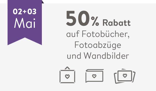 50 % Rabatt auf Fotobücher, Fotoabzüge und Wandbilder bei Albellii