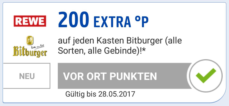 [LOKAL REWE] Bitburger Stubbi 7,49 Euro - 2,45 Euro Payback = effektiv 5,04 Euro