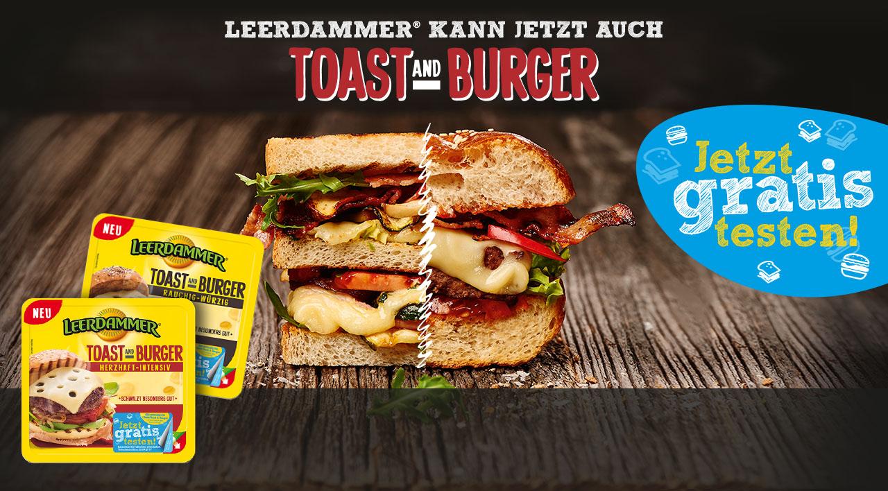 Leerdammer Toast & Burger Gratis Testen