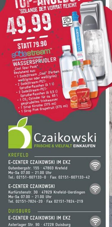 [Lokal Kr + Du + Mh] Edeka Czaikowski - SodaStream Cool Super-Spar-Pack grau