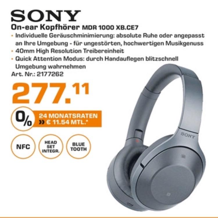 (Lokal Stuttgart/Esslingen) Sony MDR 1000X für 277,11€
