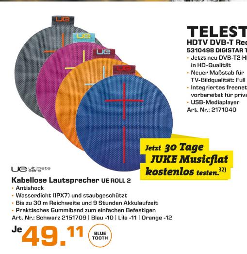 [Lokal Saturn Stuttgart/Esslingen] UE Roll 2 für 49,11€